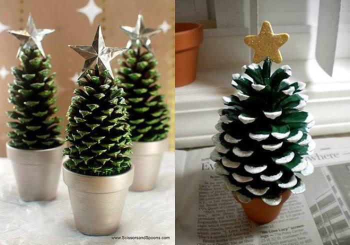 arbol de navidad con pias - Arbol De Navidad Pequeo