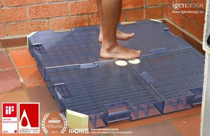 Sistema para aprovechar el agua de la ducha