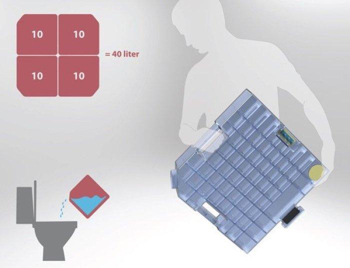 Sistema para aprovechar el agua de la ducha4