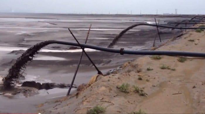 Lago tóxico en China