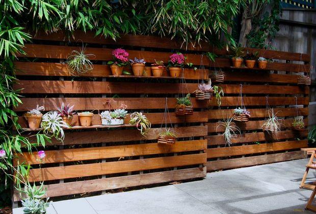 valla para jardin con flores - Vallas Madera Jardin