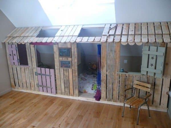 dormitorio con palets