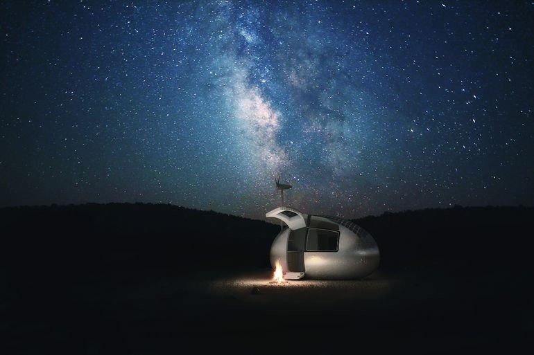 Ecocapsula a la luz de las estrellas