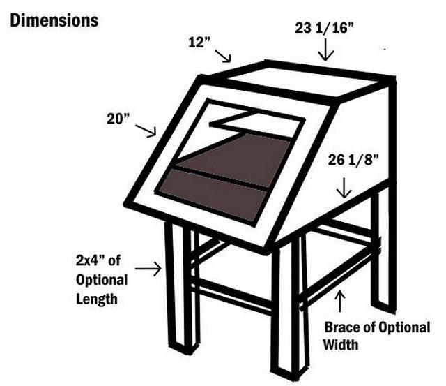 Como hacer un deshidratador de comida solar casero dimensiones