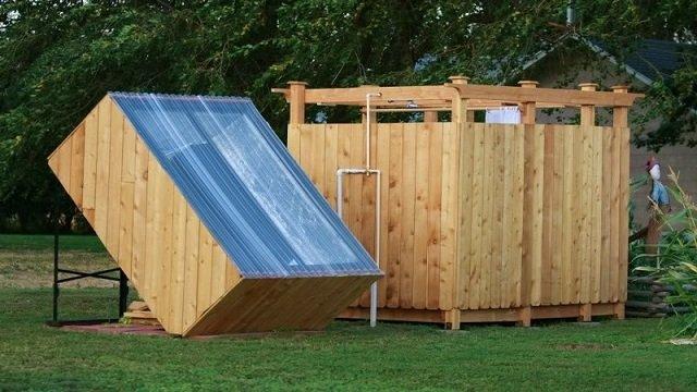 Como hacer una ducha solar al aire libre