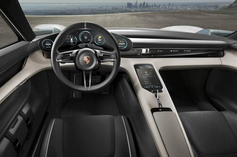 Porsche Mission E Concept interior