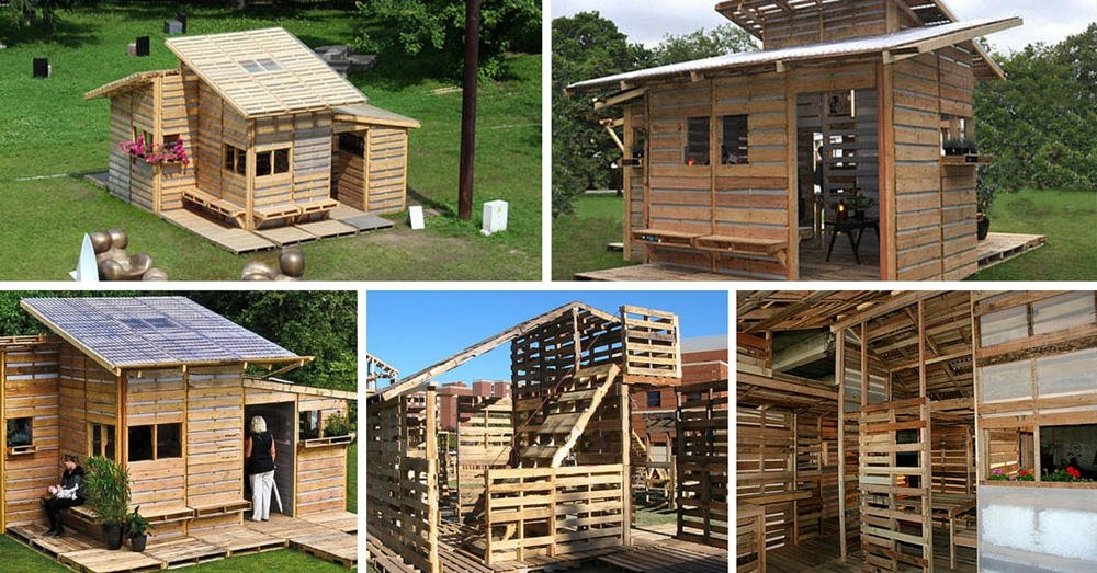 C mo construir una casa con palets en un s lo d a for Como hacer una caseta de jardin barata