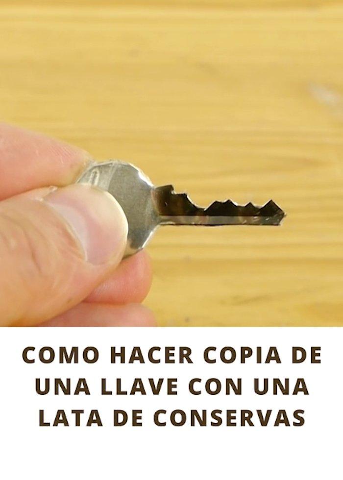 como hacer copia de una llave con una lata de conservas