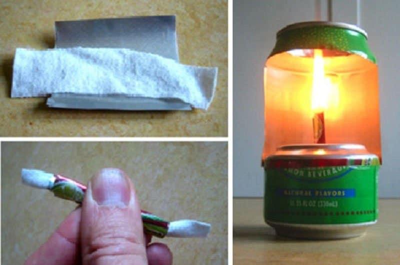 Como hacer una lámpara con una lata de aluminio