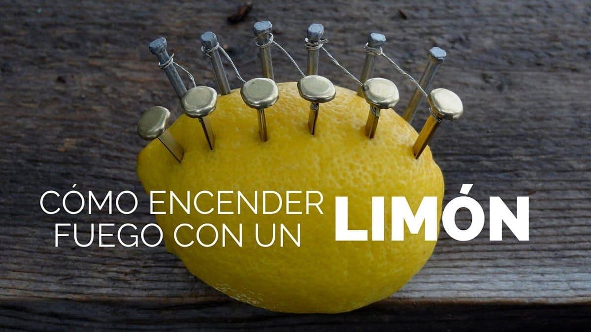 Cómo encender fuego con un limón