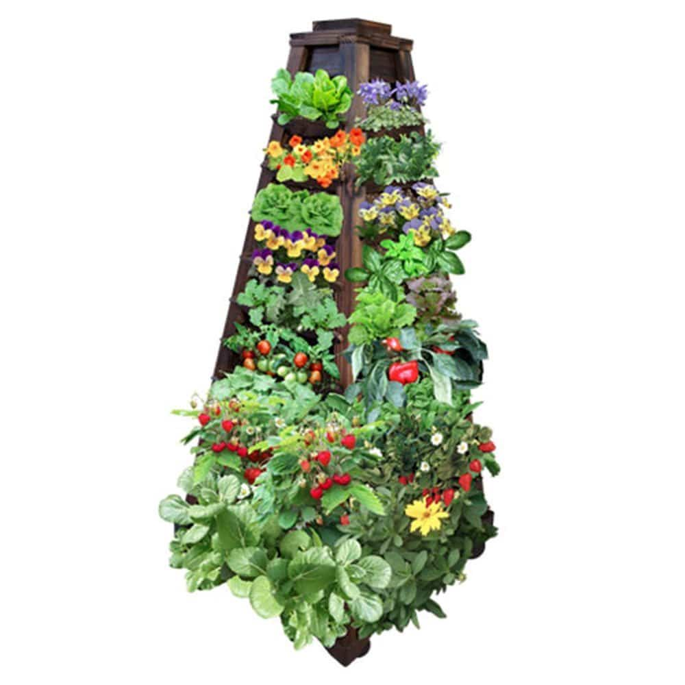 Torre de madera vertical de cultivo