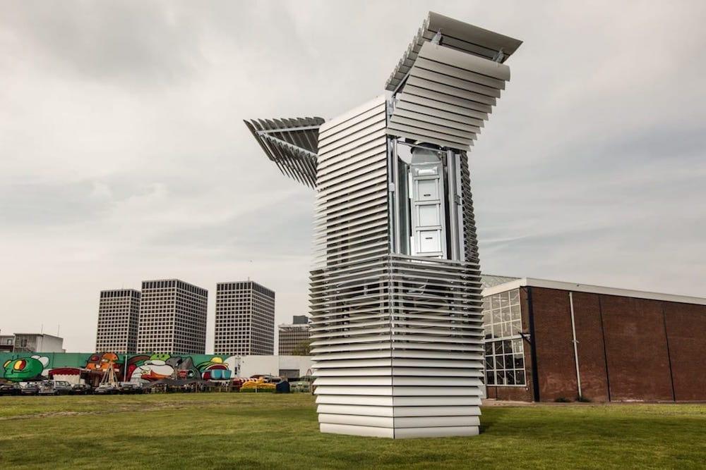La torre en Rotterdam que es capaz de eliminar el 75% de los contaminantes atmosféricos