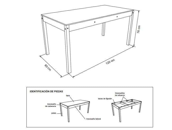 Planos para construir muebles de madera pdf total for Planos de muebles de cocina pdf