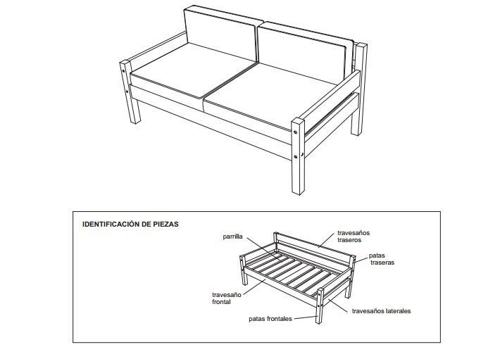 planos para construir muebles de madera On planos de sillones