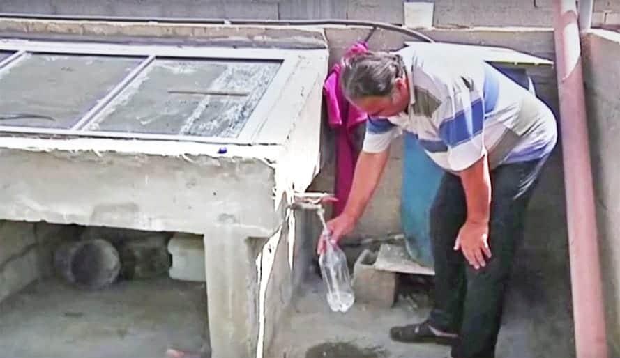 Máquina de depuración solar casera Gaza