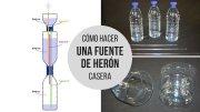 Cómo hacer una fuente de Herón casera, la fuente de agua perpetua