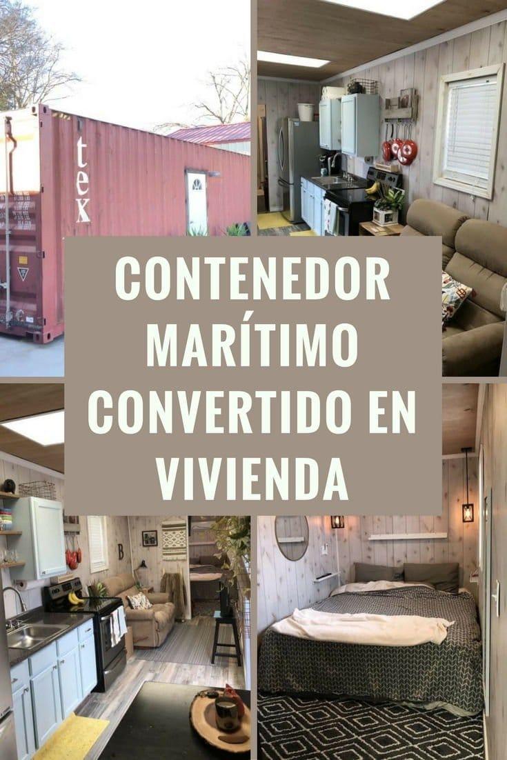 Un contenedor mar timo convertido en vivienda a la venta en texas - Vivienda contenedor maritimo ...