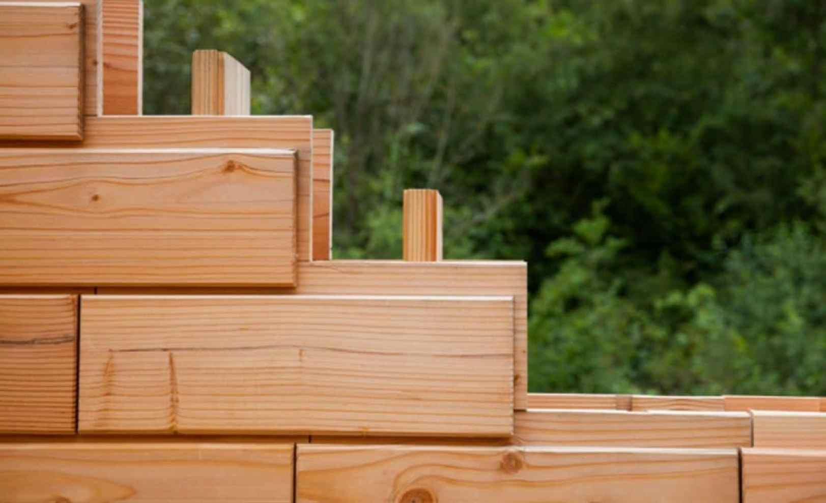 Brikawood las casas de ladrillos de madera tipo lego que - Propiedades de la madera ...