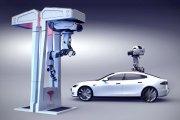 El futuro de la carga en movimiento de los coches eléctricos Tesla con drones
