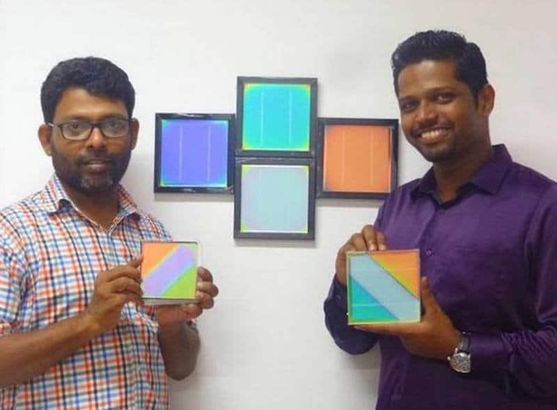 Paneles solares de colores