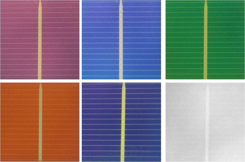 para colores como el verde el rojo o el azul la eficiencia es del respecto a un panel
