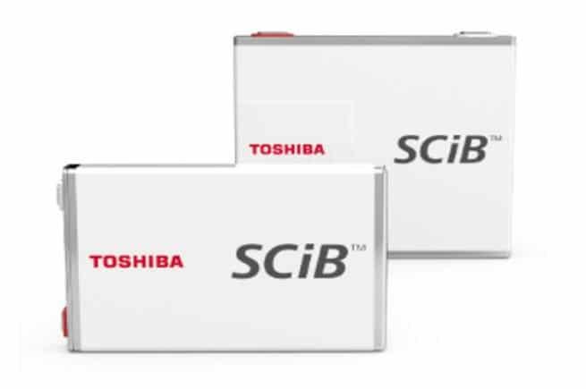 Toshiba baterías recargables SCiB