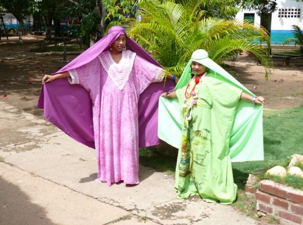 Muestra folclórica del grado 7º, vestidos wayuu