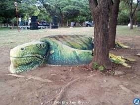 Iguana de piedra.
