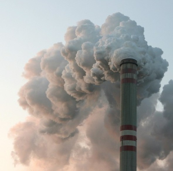 Carbon emissions coal-fired power plant