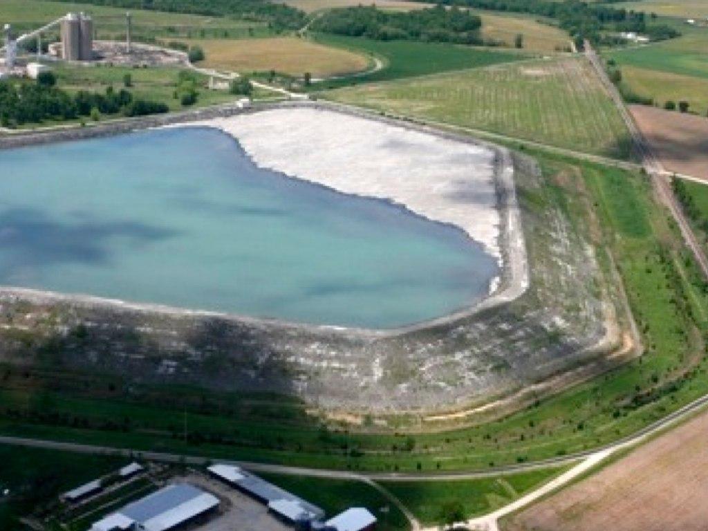 Coal Slurry Pond, Shay 1 Mine, Macoupin County Illinois.