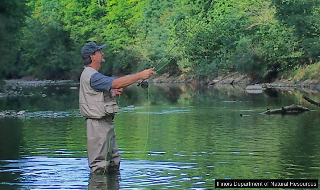 The river is a great spot for sports fishing