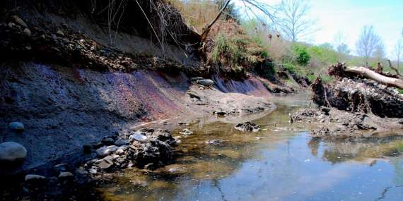 But the pits sit below the water table and groundwater and surface water will continue to mix with the toxic ash.  Plus, Dynegy's plan does not address erosion of the banks abutting the North and Old East Pits.