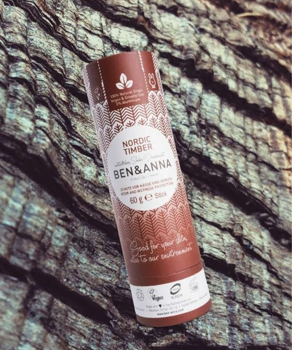 "Deodorante naturale per ascelle in stick ""Nordic Timber"", Ben & Anna"