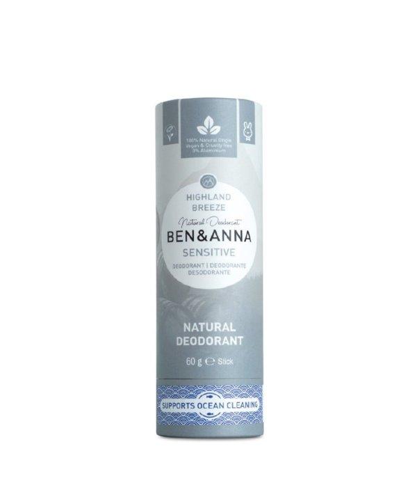 """Deodorante naturale per ascelle in stick sensitive """"Highland Breeze"""", Ben & Anna"""