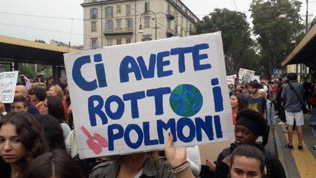 Attivismo ambientale durante una marcia