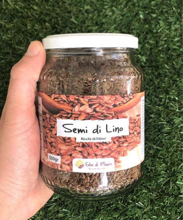 """Simo di lino naturale, 500 g, """"Erbe di Mauro"""""""