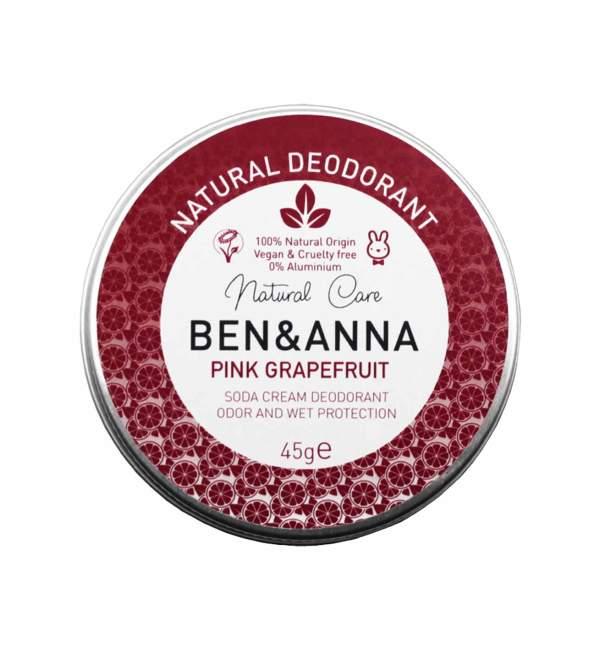 "Deodorante solido naturale per ascelle ""Pink Grapefruit"", Ben & Anna"