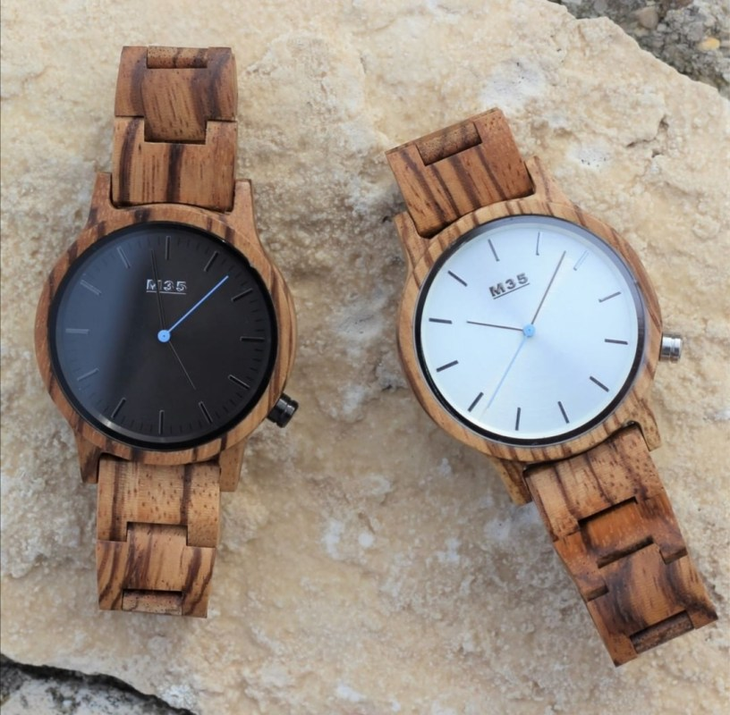 Orologi in legno da polso per uomo o donna