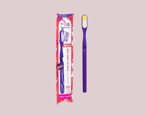 Lamazuna-Spazzolino-in-Bioplastica-con-Testina-Intercambiabile-Viola-Packaging