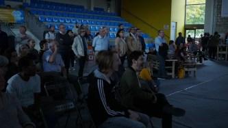 inauguration festival ecolaube 2018 a sainte savine - projection interview dominique bourg