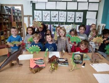 Les petits de 1ère maternelle au temps des dinosaures !