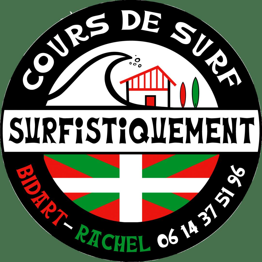 Img : Logo Surfistiquement - Cours de surf Rachel Larralde