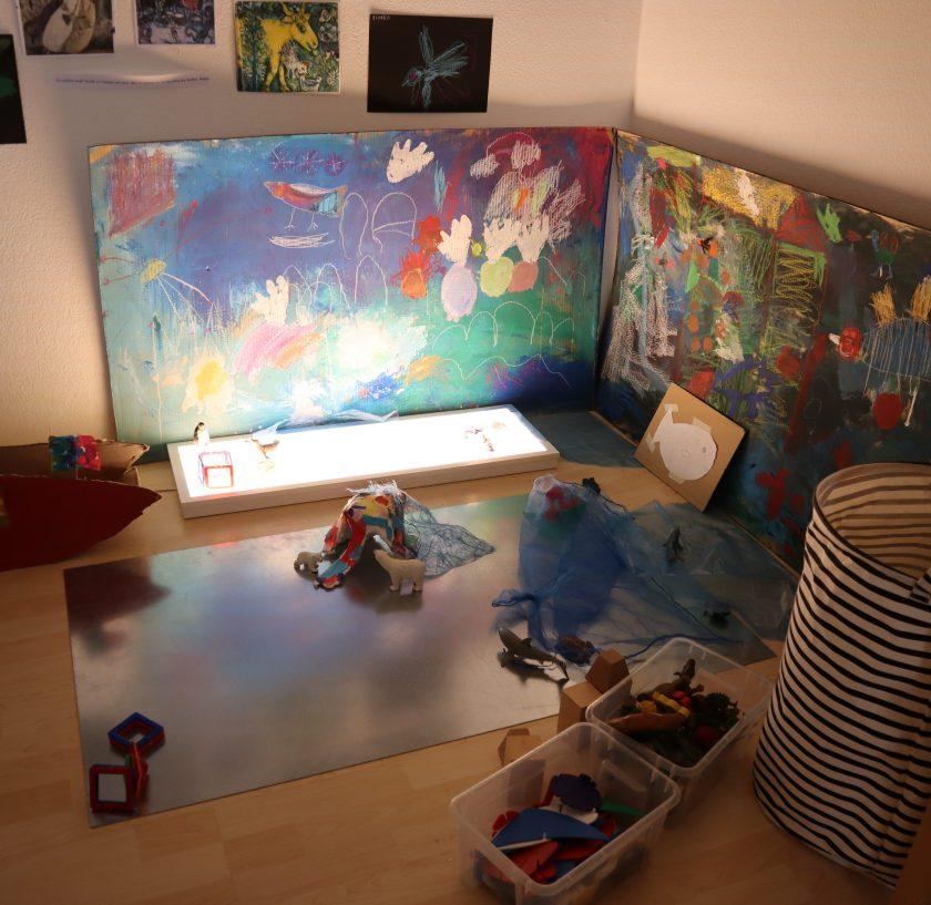 Table lumineuse - imaginaire - Reggio Emilia - lecoline