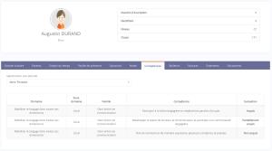 Module Evaluations Bulletins Suivi des compétences Dossier Elève