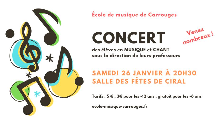 concert de l'école de musique de Carrouges
