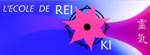 la bannière de l'école de Reiki