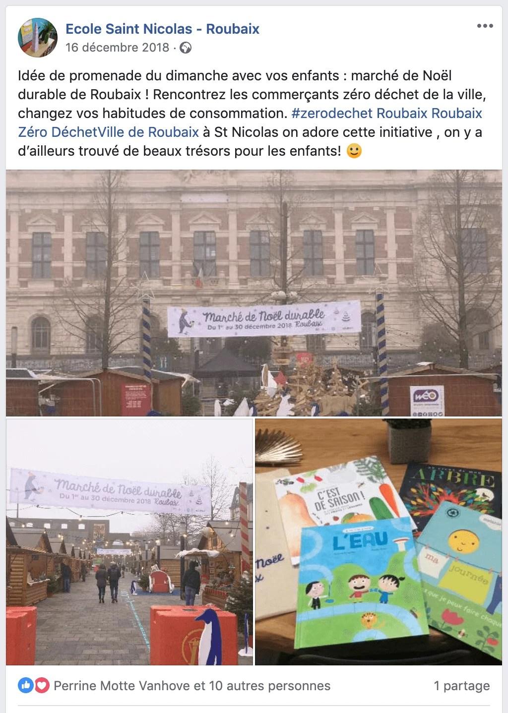 Marché zero dechet ecole saint nicolas roubaix page facebook