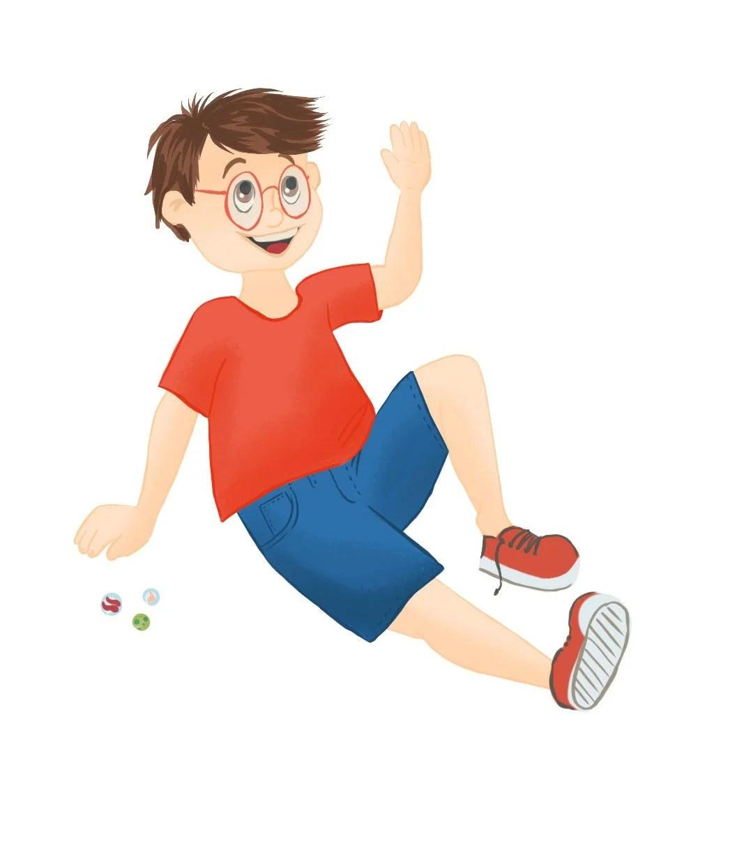 garçon jouant aux billes