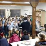 Des chants de Noël lors de la galette des rois 2019 à l'école Notre Dame de l'Espérance