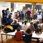 Un spectacle de chant lors de la galette des rois 2019 à l'école Notre Dame de l'Espérance